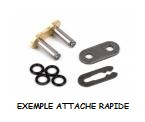 ATTACHE RAPIDE POUR CHAINE RK 520 MXU UW'RING RACING TT ULTRA RENFORCEE JOINTS W PLATS