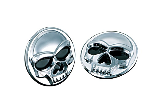 BADGES MEDAILLONS ADHESIF KURYAKYN ZOMBIE DIAMETRE 25MM FINITION CHROME