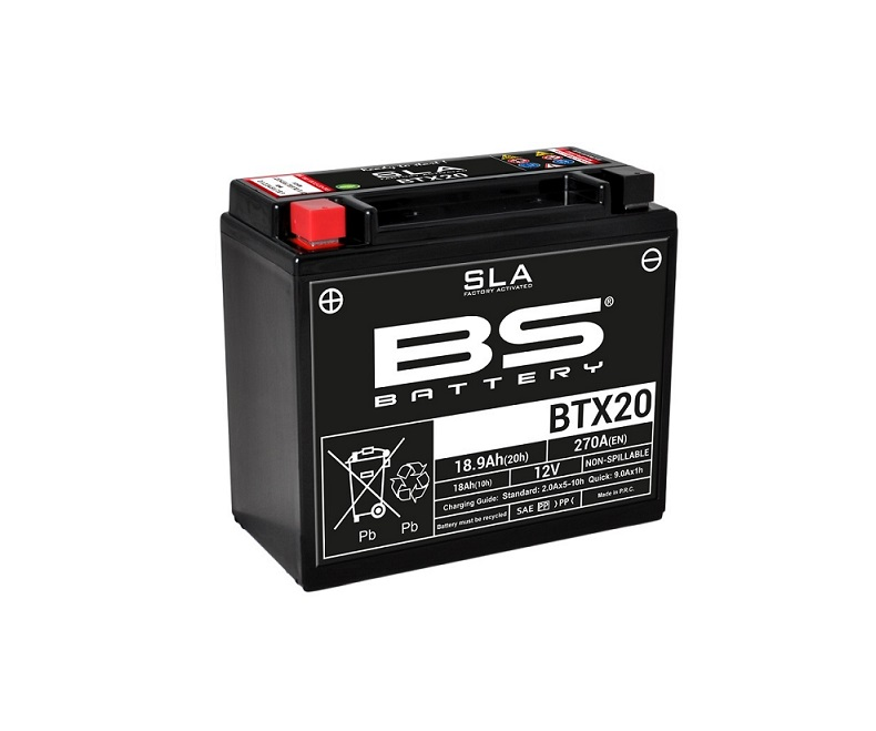 BATTERIE BS BATTERY BTX20 SLA ACTIVEE USINE