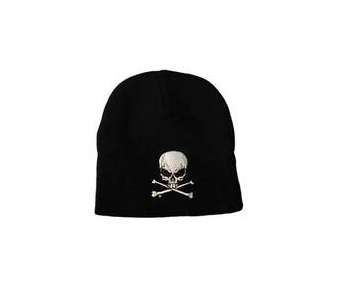 BONNET NOIR SKULL AND CROSSBONES