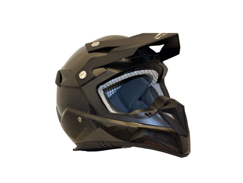 CASQUE CROSS STEALTH S810 EN FIBRE CARBONE BRILLANT