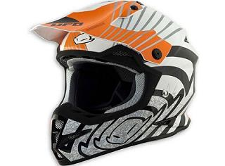CASQUE CROSS UFO WARRIOR SHOCK ORANGE GRAPHIQUE NOIR/BLANC/ORANGE