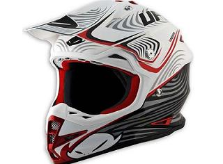 CASQUE CROSS UFO WARRIOR X-ZONE GRAPHIQUE BLANC/NOIR/ROUGE