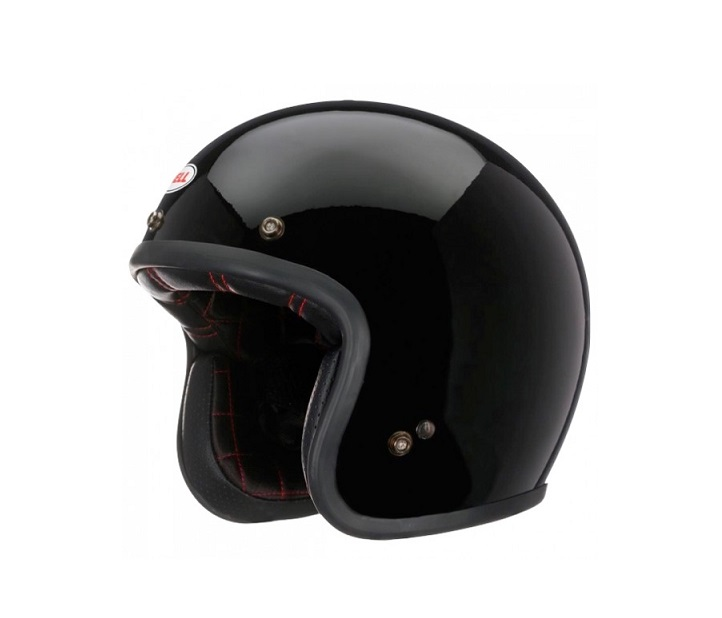 CASQUE JET BELL CUSTOM 500 DLX SOLID NOIR BRILLANT