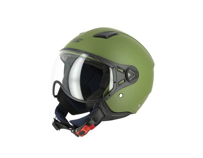 CASQUE JET S-LINE S779 LEOV GREEN ARMY MAT