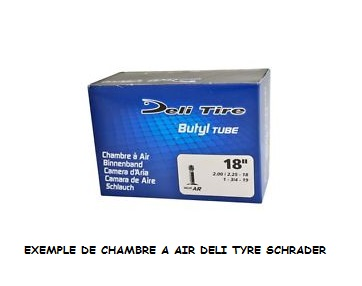 CHAMBRE A AIR CYCLO SOLEX 1 3/4 X 19 - 2 X 19 VS (SCHRADER)