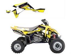 KIT DECO BLACKBIRD DREAM GRAPHIC II JAUNE SUZUKI 450 LTR 2006-2011