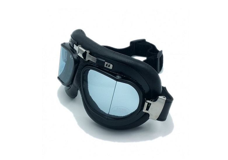 LUNETTES MOTO SCOOTER CLASSIC AVIATOR NOIRES