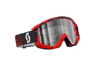 LUNETTE CROSS SCOTT RECOIL XI PRO TETHER ROUGE SILVER CHROME