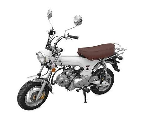 MINI MOTO TNT MOTOR CITY 4 TEMPS  50CC BLANC EURO 4