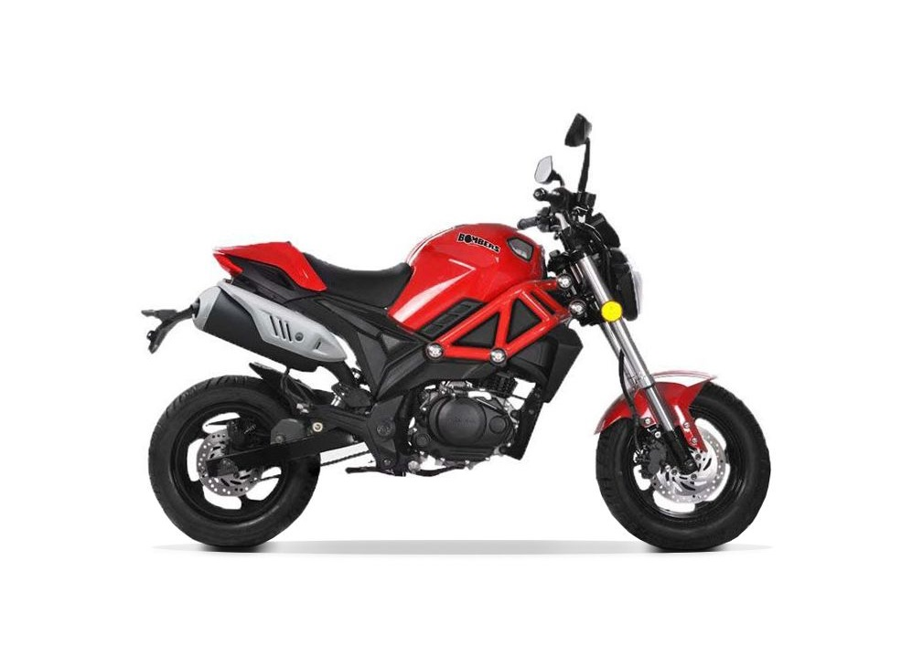 MINI MOTO MAGPOWER BOMBERS 4 TEMPS 125CC ROUGE EURO 4