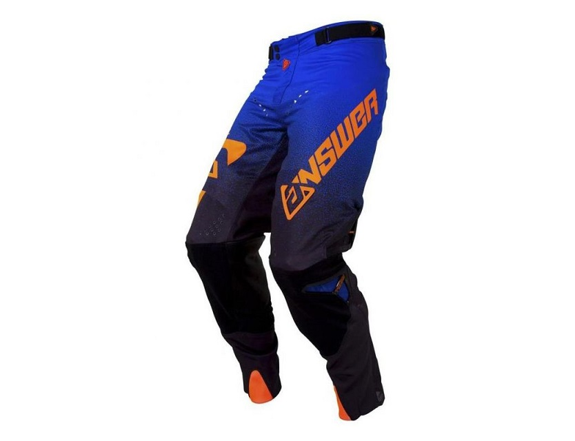 PANTALON CROSS ANSWER TRINITY NOIR/COBALT/ORANGE FLUO