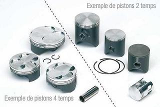 KIT PISTON 4TPS WISECO FORGE POUR KIT HONDA K890 Ø67.50MM