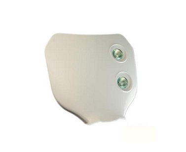 PLAQUE PHARE TUN'R ENDURO CROSS MOTO/CYCLO BLANC BI HALOGENE 2X20W