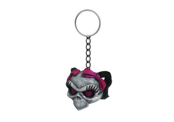 PORTE CLES LETHAL THREAT GIRL SKULL