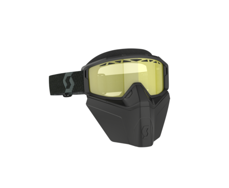 LUNETTE SCOTT PRIMAL SAFARI BLACK/YELLOW AVEC MASQUE FACIAL NOIR